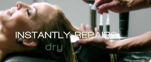Instantly repairs dry hair