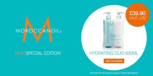 Moroccan Oil shampoo and conditioner deal