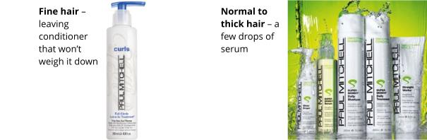 Paul Mitchell's leave in treatment and his whole range for normal to thick hair