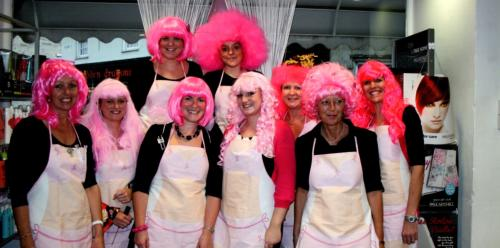 Raising money for breast cancer in 2005