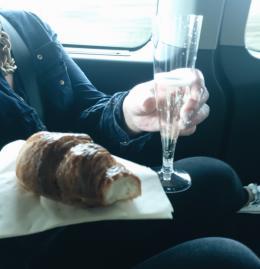 Prosecco on minibus