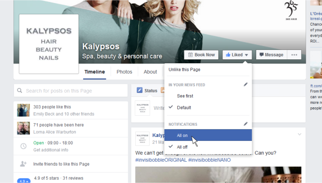 Follow Kalypsos on Facebook